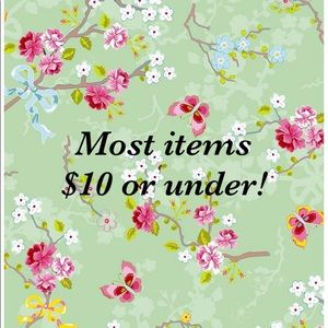 Most items $10 or under!